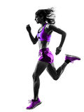 Rüttelndes Schattenbild des laufenden Rüttlers des Frauenläufers Lizenzfreie Stockfotos