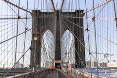 Rüttler auf Brooklyn-Brücke Lizenzfreie Stockbilder