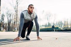 Rüttler bevor dem Laufen, Active, gesunder Lebensstil Lizenzfreie Stockfotografie