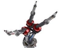 ręce 3 robotów rozprzestrzenianiu się palec Obraz Royalty Free