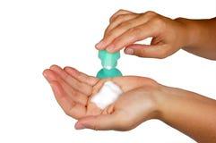 ręce aptekarki mydła Obraz Stock
