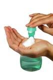 ręce aptekarki mydło w płynie Obraz Stock