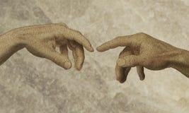 ręce boga człowieku Obrazy Royalty Free