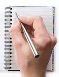ręce długopis Fotografia Royalty Free