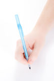 ręce długopis gospodarstwa Zdjęcia Stock