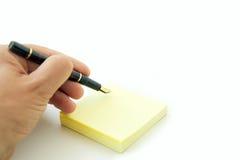 ręce długopisy pocztę Zdjęcia Stock