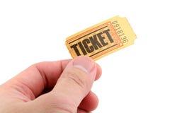ręce gospodarstwa bilet zdjęcie stock