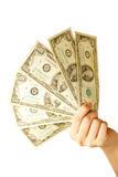 ręce gospodarstwa pieniądze Fotografia Stock