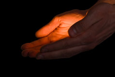 ręce miłości Zdjęcia Stock