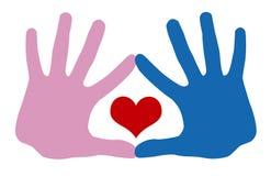 ręce miłości Zdjęcie Royalty Free