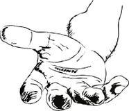 ręce mi royalty ilustracja