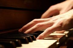 ręce na pianinie Zdjęcie Royalty Free