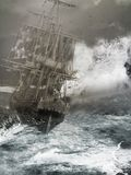 ręce na plażę dezerterujący wyspy matki syn morskiego określa burzę ilustracja wektor