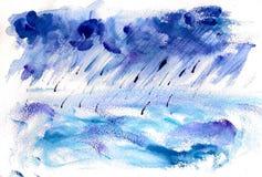 ręce na plażę dezerterujący wyspy matki syn morskiego określa burzę ilustracji