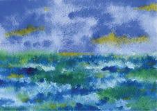 ręce na plażę dezerterujący wyspy matki syn morskiego określa burzę royalty ilustracja