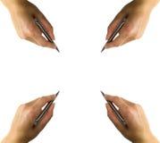 ręce pióro nieruchomy zdjęcie stock