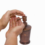ręce pompuje mydła Obraz Stock