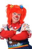 ręce skrzyżowane klaun Zdjęcie Royalty Free