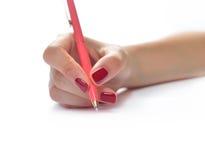 ręce tła przedmiotów white odizolowane długopisy gospodarstwa Obrazy Royalty Free
