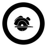 Ręczna kurenda zobaczył ikony czerni kolor w round okręgu ilustracji