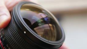 Ręczna ostrość kamera obiektyw zbliżenie zdjęcie wideo