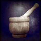 ręczne tłuczek moździerzowy drewniane Fotografia Stock