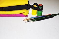 Ręcznie malowany odzież, tkaniny i farby, Zdjęcie Stock