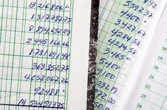 Ręcznie pisany księgowość Zdjęcie Stock