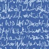 Ręcznie pisany Kursywnego pisma wektoru Bezszwowy wzór, Unreadable Handwriting tekstura ilustracji