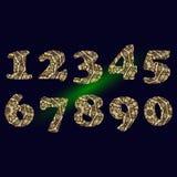 Ręcznie pisany liczba 2019 deseniująca z gmatwaniną kształtuje dla dekoruje kalendarz ilustracji