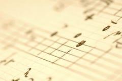 Ręcznie pisany muzyk notatki zdjęcia stock