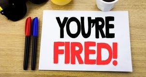 Ręcznie pisany teksta podpis pokazuje Ciebie Podpala Biznesowy pojęcia writing dla bezrobotni lub rozładowanie pisać na kleistej  zdjęcie royalty free