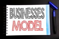 Ręcznie pisany teksta seansu biznesów model Biznesowy pojęcia writing dla projekta Dla biznesu Pisać na notepad nutowym papierze, Obraz Stock