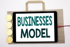 Ręcznie pisany teksta seansu biznesów model Biznesowy pojęcia writing dla projekta Dla biznesu Pisać na torba na zakupy i pastylk Obraz Royalty Free