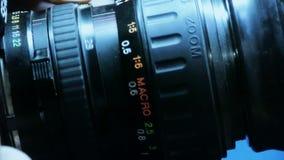 Ręcznie przystosowywa kamera obiektyw zbiory