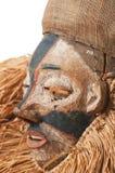 Ręcznie robiony afrykanin maska z arkanami symuluje włosy Twarz ludzka Ja Obraz Stock