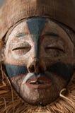 Ręcznie robiony afrykanin maska z arkanami symuluje włosy Twarz ludzka Ja Obrazy Royalty Free