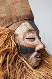 Ręcznie robiony afrykanin maska z arkanami symuluje włosy Twarz ludzka Ja Obrazy Stock
