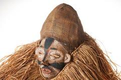 Ręcznie robiony afrykanin maska z arkanami symuluje włosy Twarz ludzka Ja Zdjęcie Royalty Free