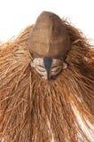 Ręcznie robiony afrykanin maska z arkanami symuluje włosy Twarz ludzka Ja Zdjęcie Stock