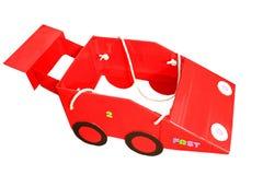 Ręcznie robiony czerwony bieżny samochód Obrazy Royalty Free