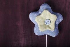 Ręcznie robiony dekoracyjna gwiazda płótno Zdjęcie Royalty Free