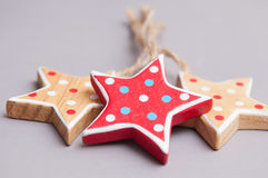 Ręcznie robiony gwiazdowe kształt choinki dekoracje Zdjęcie Stock