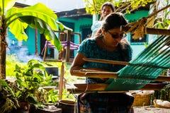 Ręcznie Robiony tkaniny Robić w Gwatemala fotografia royalty free