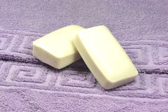 Ręcznik i mydło Fotografia Royalty Free