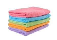 Ręcznik, kąpielowy ręcznik na tle. Fotografia Stock