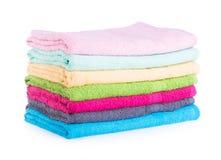 Ręcznik. ręcznik na tle Zdjęcie Royalty Free
