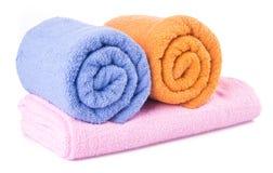 ręcznik ręcznik na tle Obraz Royalty Free