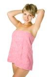 ręcznik spa kobieta fotografia royalty free