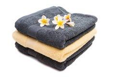 ręcznik ustawiający odizolowywającym Zdjęcia Stock